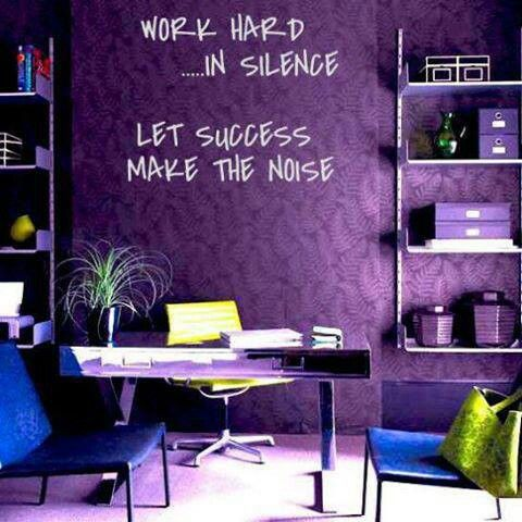 Purple Office Space! This Is Exactly What I Would Have My Office Space Look  Like Maybe Tweaking A Few Things Differently But The Wall Is What Reallu2026