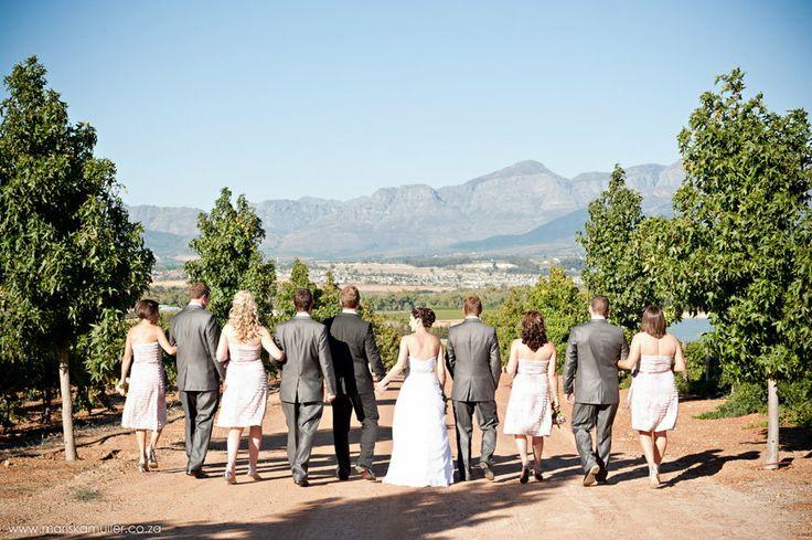 Bridal party at Nantes Estate