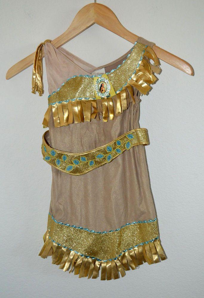 Disney Store Pocahontas Costume Girls Small XXS 2/3