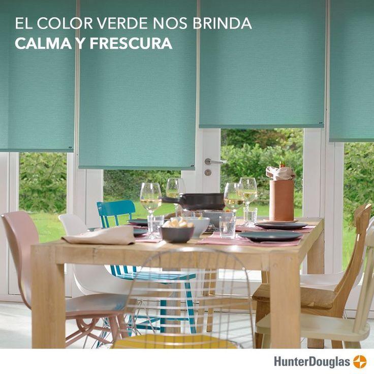 Cada color en un espacio nos envuelve y nos producen sensaciones. Al decorar tu hogar elige los que te provocan bienestar  #DecoraConCortinasHunterDouglas