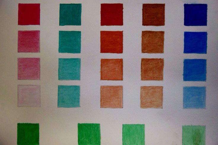 Scala gradazione di colori ad acquarello