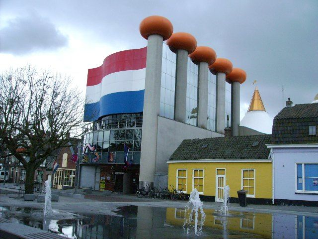 Happiest building in the city of Zandvoort, the Netherlands.. Dutch flag:)