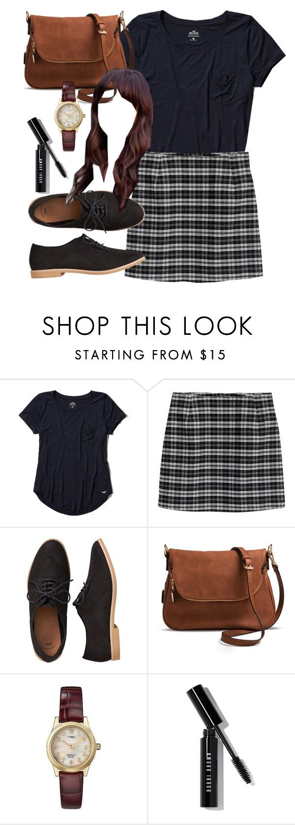 """""""Spencer Hastings inspired outfit with a navy t-shirt"""" by liarsstyle ❤ liked on Polyvore featuring Hollister Co., Gap, Target, Timex, Bobbi Brown Cosmetics, school, college, ss and museum"""