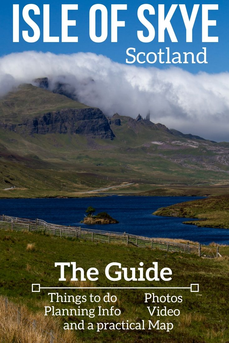 Explore the stunning Isle of Skye in photos and video + plan your trip with the map and practical tips - Includes the Fairy pools, the Old Man of Storr, Quiraing, ... and off the beaten path locations | Scotland Isle of Skye Scotland | Scotland things to do | Isle of Skye Travel