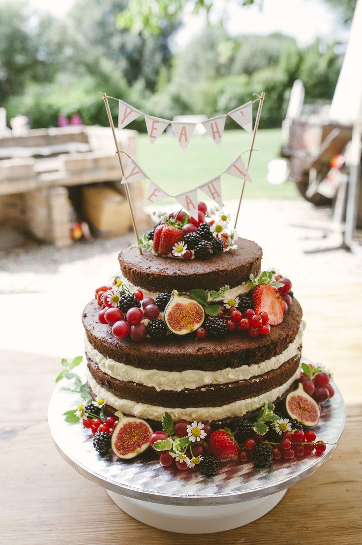 Naked wedding cake Hochzeitstorte