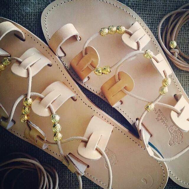 Handmade # greek # sandals # mara&eva