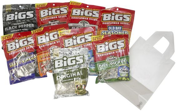 BIGS Sunflower Seeds Variety Pack 9 Seed Bags (5.35oz each) Included Gift Bag * Remarkable product available now. : Fresh Groceries