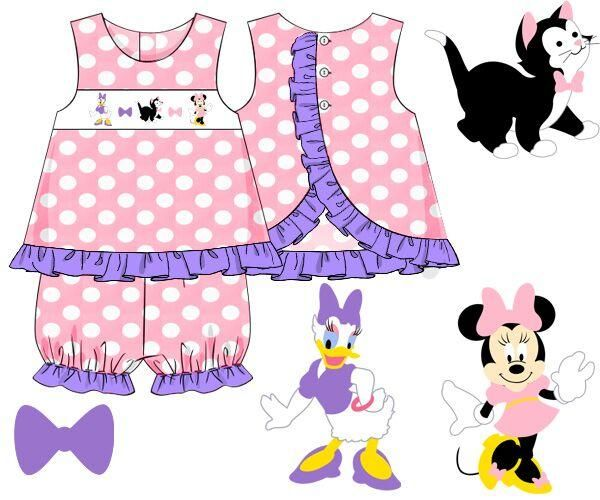Pink and Lavender Polka Dotted Smocked Oh Toodles Ruffle Bloomer Set