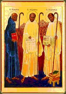 Founders of the Cistercian Order - Saints Robert, Alberic, and Stephen Saint Robert, Cistercian Order, Catholic Interest...