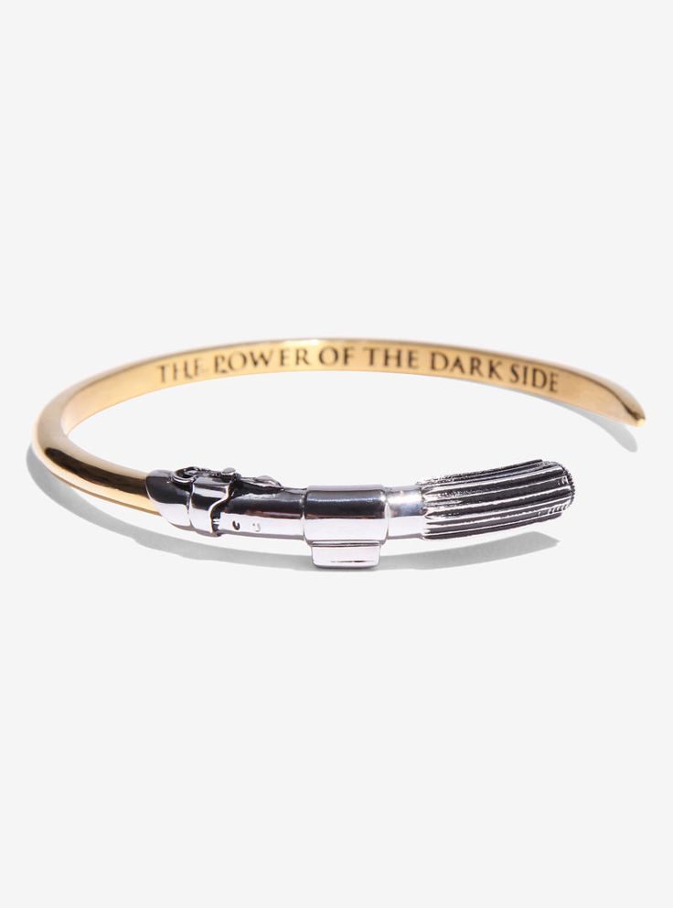 Han Cholo x Star Wars Darth Vader Lightsaber cuff bangle bracelet at Box Lunch ⭐️ Star Wars fashion ⭐️ Geek Fashion ⭐️ Star Wars Style ⭐️ Geek Chic ⭐️