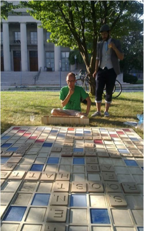 Lawn Scrabble. Yes, yes, YES!