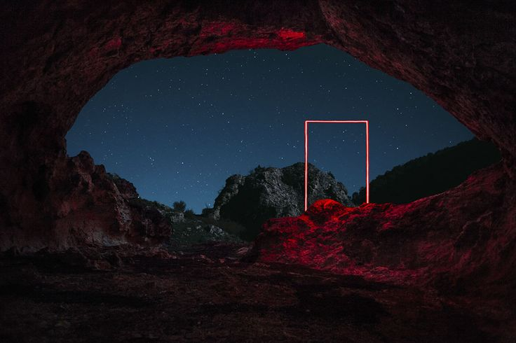 La Linea Roja Geometric Light Installations by Nicolas Rivals Bathe the Spanish Countryside in Red.  #beautiful #red #installation