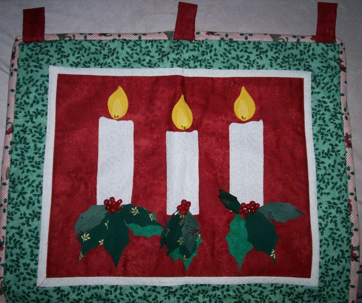 Christmas Candles wall hanging.