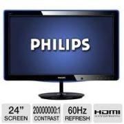 PHILIPS 248C3LHSW 23,6 led  Görüntü/Ekran  •LCD panel tipi: TFT-LCD  •Arka aydınlatma tipi: W-LED sistemi  •Panel Boyutu: 23,6 inç/59,9 cm  •Etkin izleme alanı: 521,28 (Y) x 293,22 (G)  •En-boy oranı: 16:9  •Optimum çözünürlük: 60 Hz'de 1920 x 1080  •SmartResponse (tipik): 2 msn (Gri-Gri)  •Tepki süresi (tipik): 5 ms  •Parlaklık: 300 cd/m²  •SmartContrast: 20.000.000:1  •Kontrast oranı (tipik): 1000:1LHSW 23,6 Led