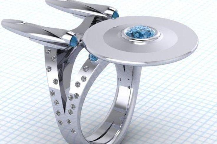 10 anéis de casamento que encantam os nerds - A linda Enterprise