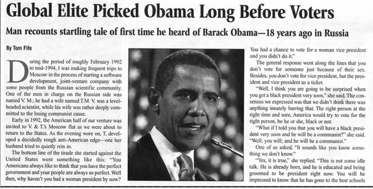 Global Elite Picked Obama Long Before Voters Barack