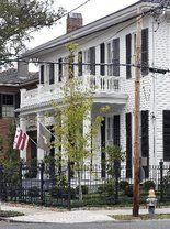 I love everything about this house.  These guys are geniuses.  Owners Ross McWilliams and Jim Simpson preserve the original architectural elements in an 1866 gem.