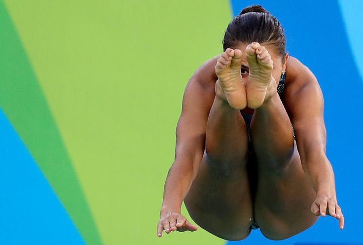 The American Kassidy Cook diving during practice Thursday before the three-meter springboard event Friday. The United States' dominance of the sport has been threatened by China, which has led the medal standings.  Wong Maye-E/Associated Press