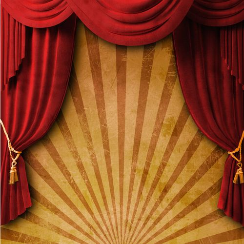 Theater, scene,  audience and curtain | Театр, сцена, зрительный зал и занавес