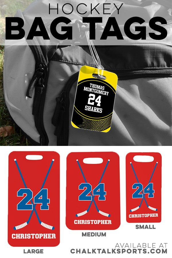Perfect To Give As A Team Gift These Hockey Bag Tags Can Be Personalized With A Players Name Number Team N Hockey Team Gifts Hockey Tournaments Hockey Gifts