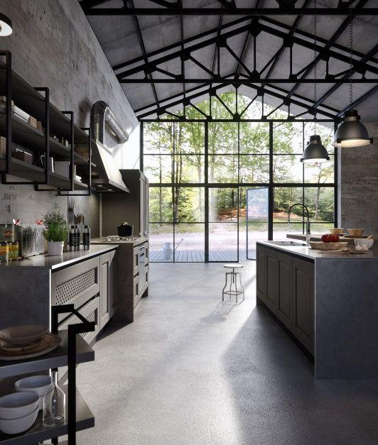 kuchnia w stylu loft  #kitchen  #interiordesign #2016trends see more: dom-wnetrze.com