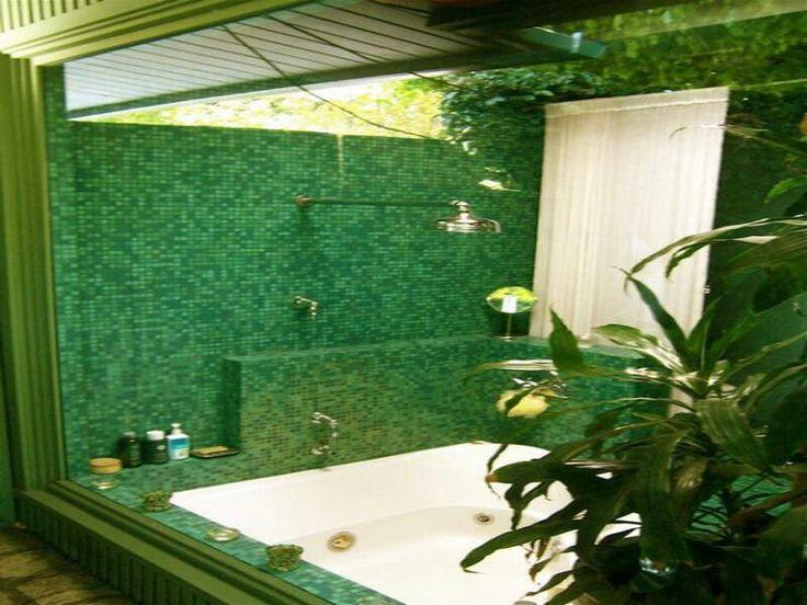 Bathroom Ideas Natural Tropical Bathroom Design Ideas With Green Mosaic  Tiles Stunning Bathroom Tile Design Photo Gallery