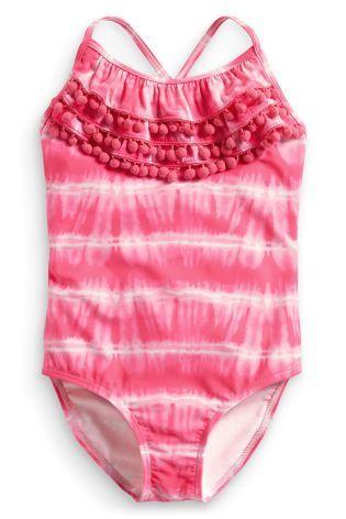 Купить Розовый купальник тай-дай (3-16 лет) - Покупайте прямо сейчас на сайте Next: Россия