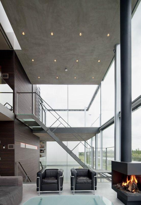 Living Room Rieteiland House, Amsterdam By HANS VAN HEESWIJK Courtesy of Imre Csany/Csany Studio