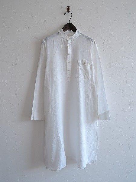 ドーサ dosa コットンバンドカラーシャツ薄手ワンピース
