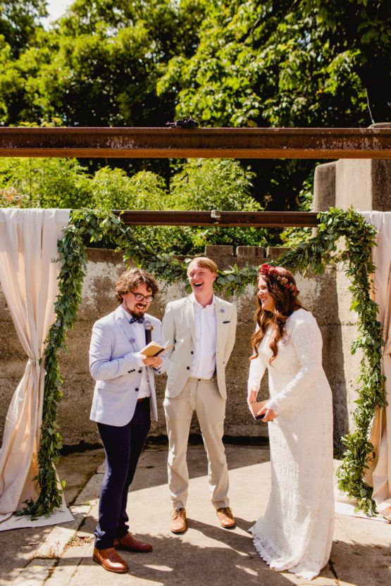 Our Editor Claire S Laid Back Barn Wedding In Ireland