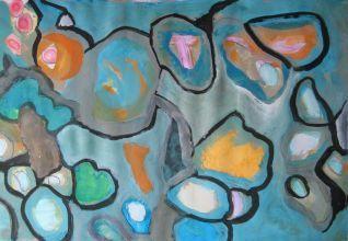 #original abstract painting, #gouache on paper, #mirjamrinkel.nl