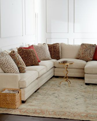 Sperrazza Sectional Sofa at Horchow.