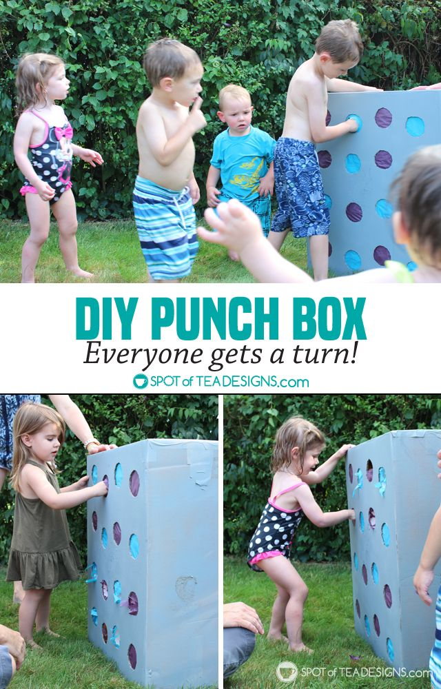 DIY Punch Box Tutorial - create instead of a pinata and every kid gets a turn at…