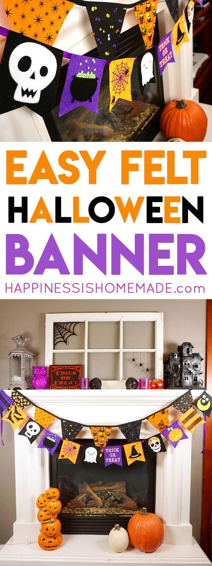 best celebrate halloween images happy felt halloween banner