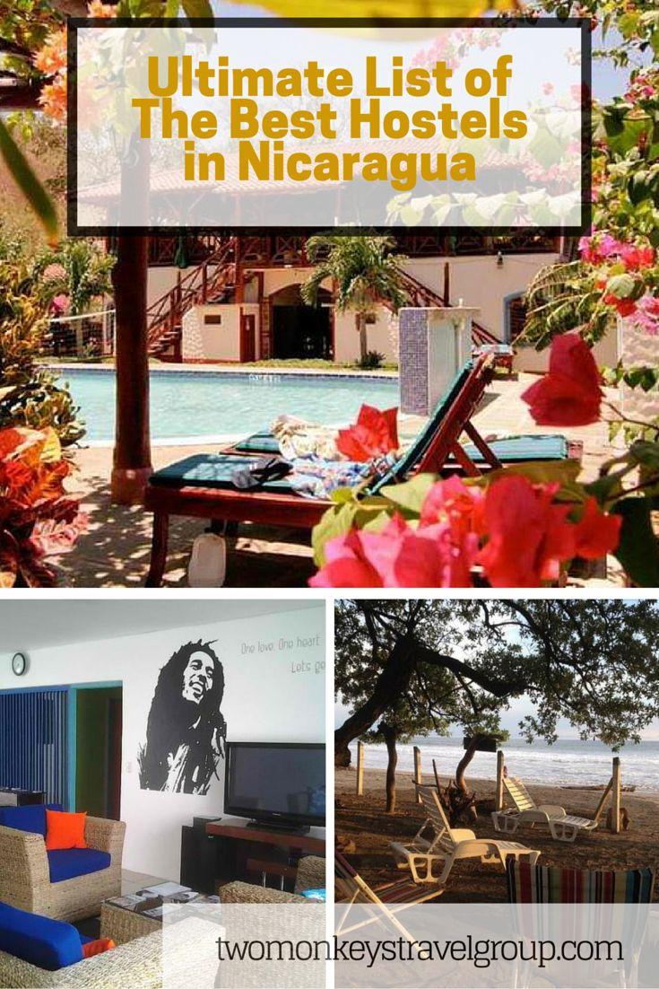 //NICARAGUA – Best hostels in Granada. Jinotega. Leon. Managua. Matagalpa. Ometepe Island. Popoyo. San Juan Del Sur. Tola.