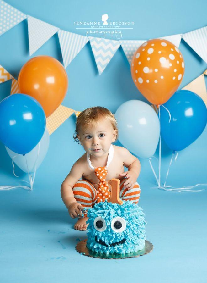 The R Family – Sebastopol Family Photographer » Jeneanne Ericsson Photography monster theme cake smash