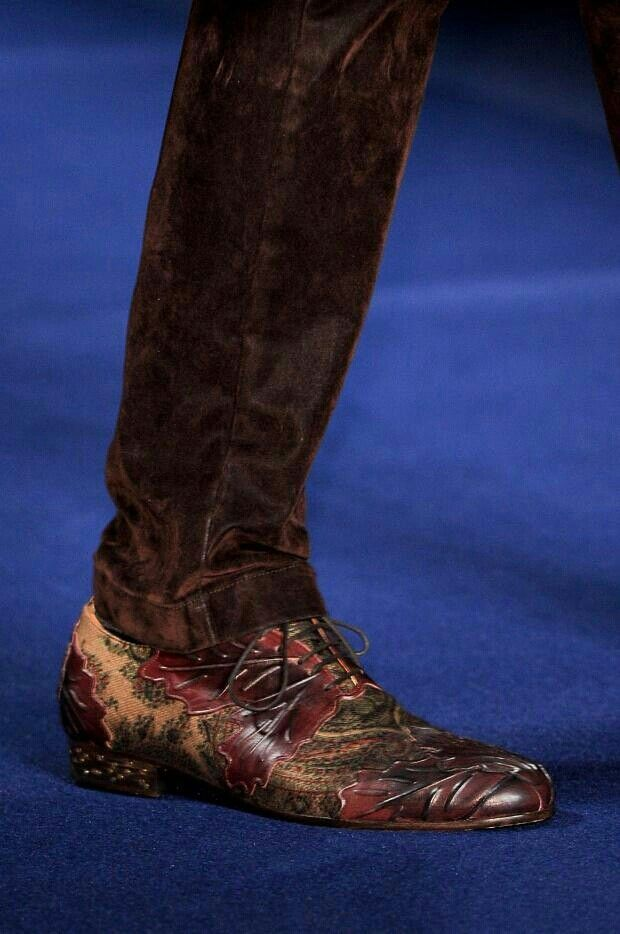 Etro Mens A/W I have total lust in my heart for these shoes.