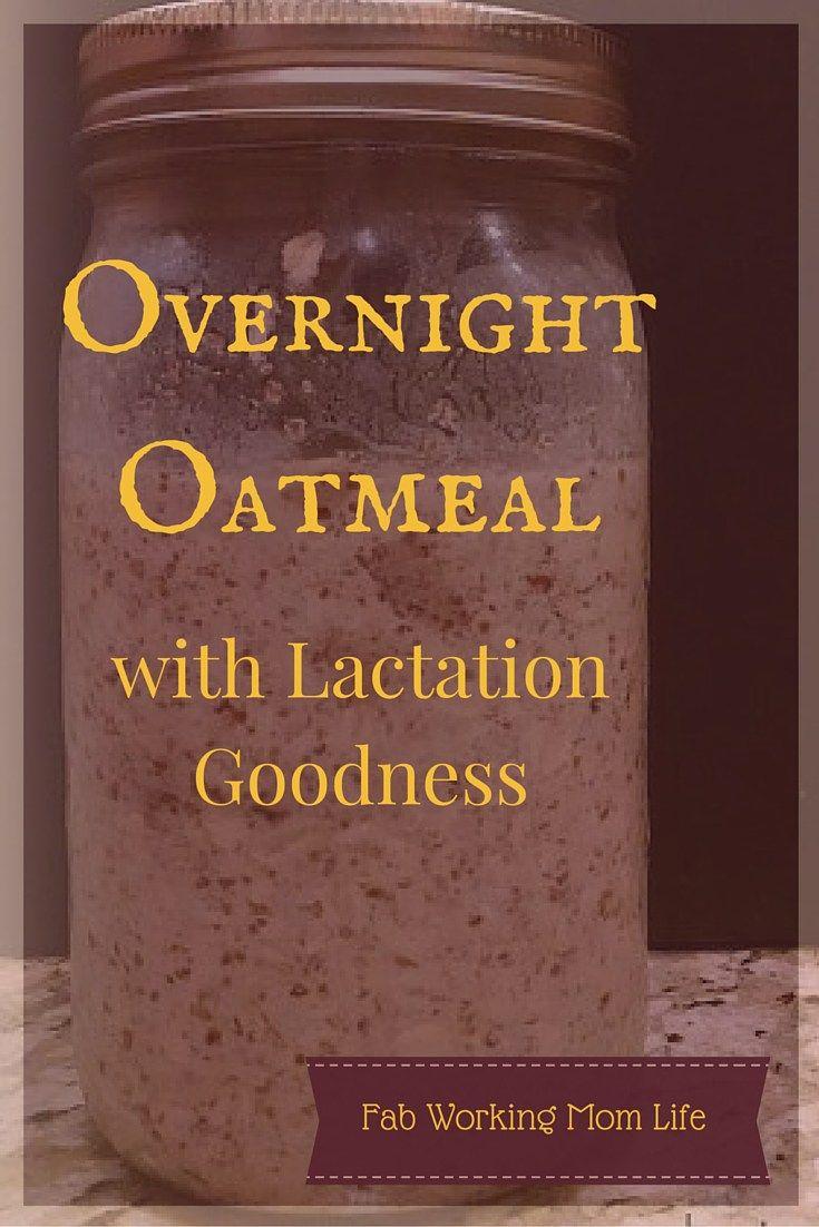 Overnight Oatmeal for Lactation in a Mason Jar