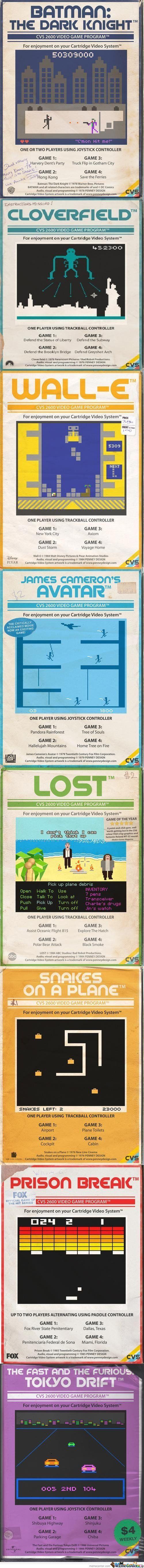 re-interpretation of movies into vintage video games