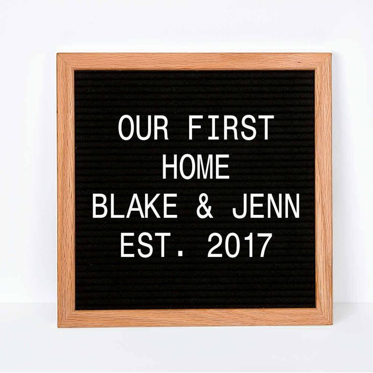 Excited to share the latest addition to my #etsy shop: Realtor Closing gift, First Home Gift, Housewarming Gift, New Home, Realtor Gift, Gift for clients, Newlywed, Felt Letter Board with Letters #housewares #homedecor #white #wedding #black #entryway #walldecor #personalizedwedding