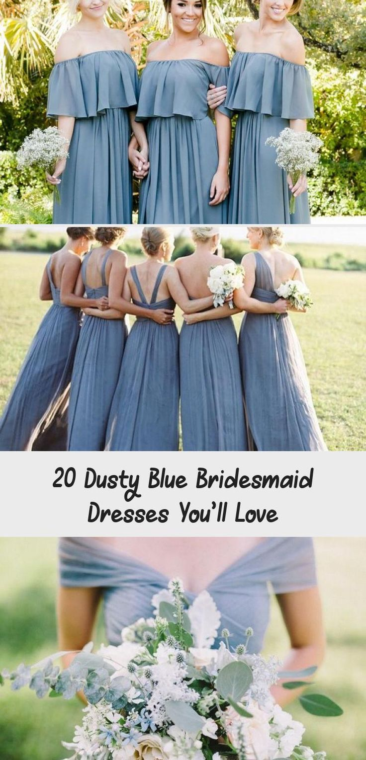 dusty blue wedding color ideas - dusty blue bridesmaid dresses  #weddings #wedding #blueweddings #weddingcolors #weddingideas #dustyblue #beautiful #dresses #bridesmaid #ModestBridesmaidDresses #BlackBridesmaidDresses #IvoryBridesmaidDresses #MixAndMatchBridesmaidDresses #BridesmaidDressesSummer