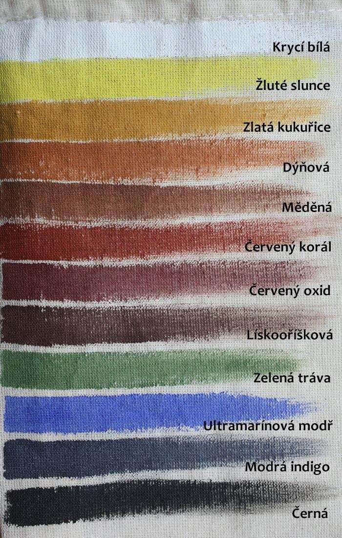 Textilky - k tvoření, malování a razítkování na textil (bavlnu i hedvábí)