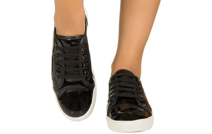 Tênis preto verniz Taquilla - Taquilla - Loja online de sapatos femininos
