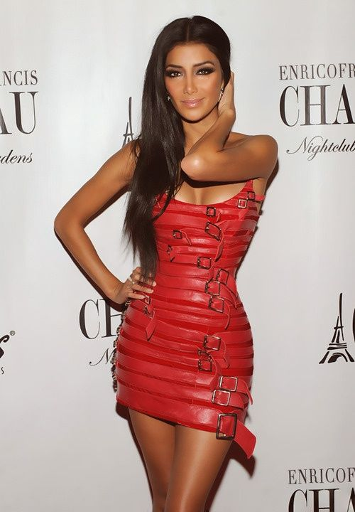 Nicole Scherzinger in a red bandage dress http://www.luvtolook.net/2013/05/nicole-scherzinger-in-red-bandage-dress.html