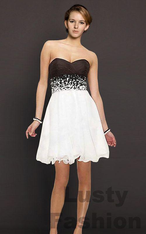 Black And White Graduation Dresses Dresses Dresses Prom Dresses