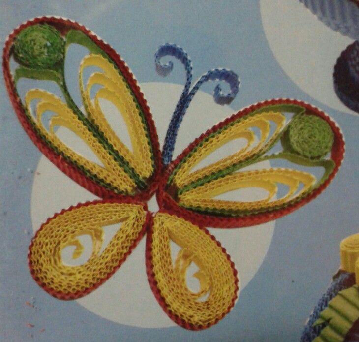 Vlinder van ribbelkarton