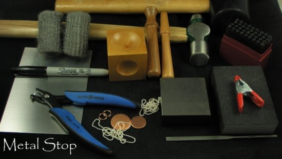 BASIC Metal Jewelry STAMPING KIT  The Tools You Need by metalstop, $68.50
