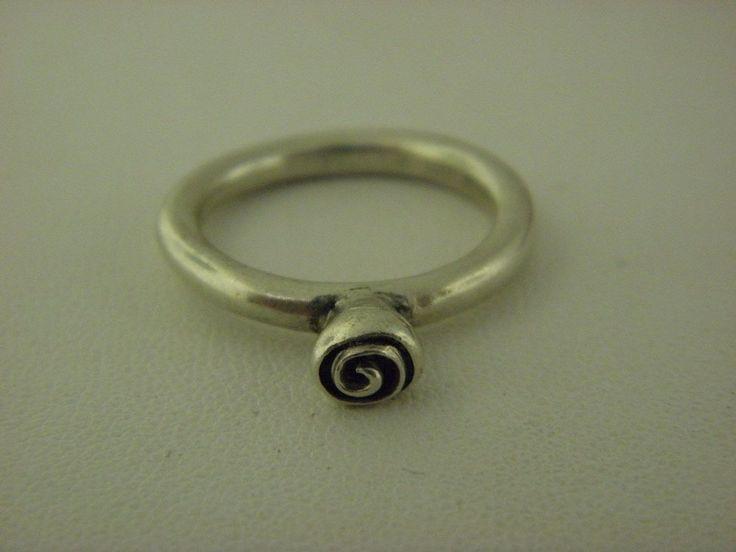 Pandora Flower Ring in Sterling Silver Sz 7.75 #PANDORA #Band