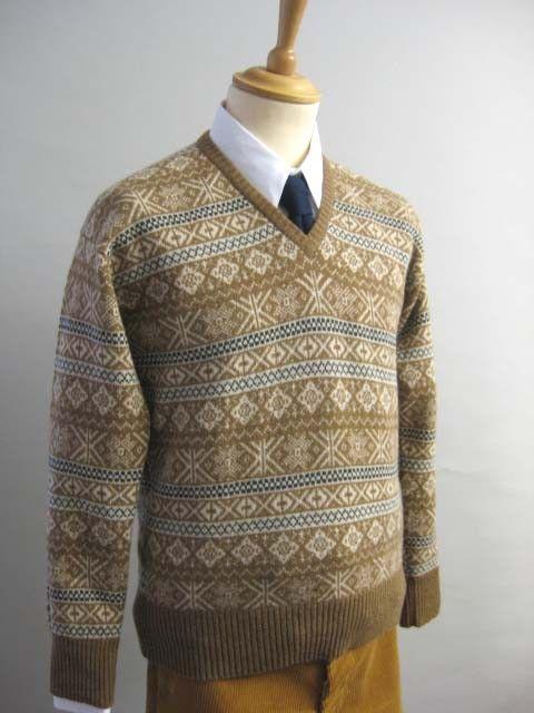 Long Sleeve Fair Isle Pullover (KN104) Darcy Clothing.  So beautiful!