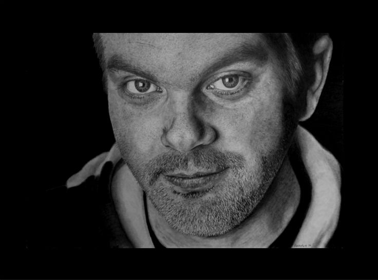 Cameron. Keith More hyperrealistic pencil drawing A3 size.